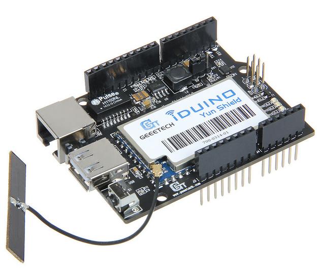 Iduino yun shield linux wifi ethernet usb for arduino